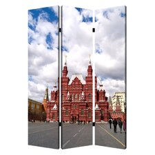 72 x 48 Russia 3 Panel Room Divider by Screen Gems