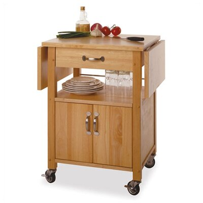 Anthem Kitchen Cart With Wooden Top