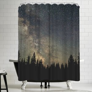 Luke Gram Stars Over the Forest Ii Shower Curtain East Urban Home