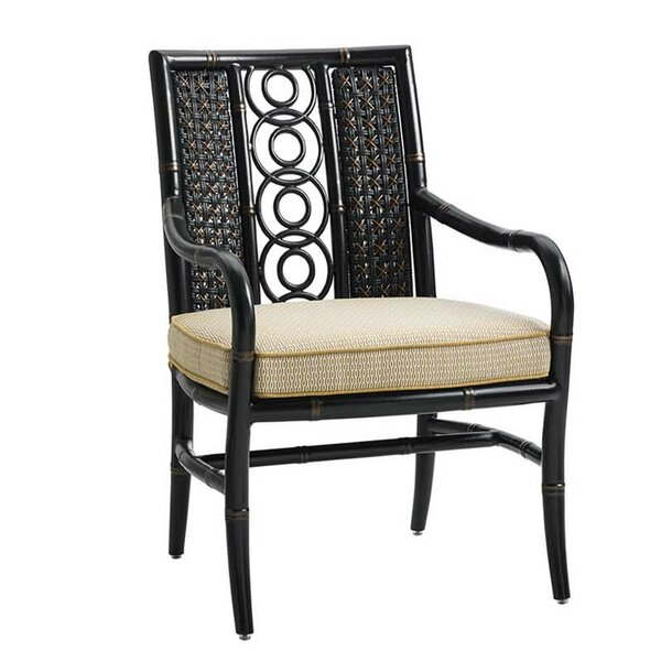 Tommy bahama outdoor marimba dining arm chair with cushion for Bahama towel chaise cover