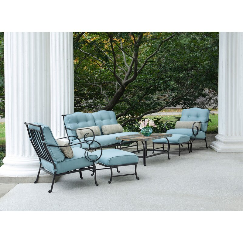 Swayne 6 Piece Patio Set With Cushions