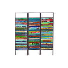 67 x 60 Sea-nery 3 Panel Room Divider by EcoChic Lifestyles