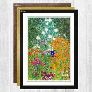 'Flower Garden' by Gustav Klimt Framed Painting Print