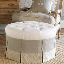 Sabelle Ledge Round Ottoman by Eastern Accents