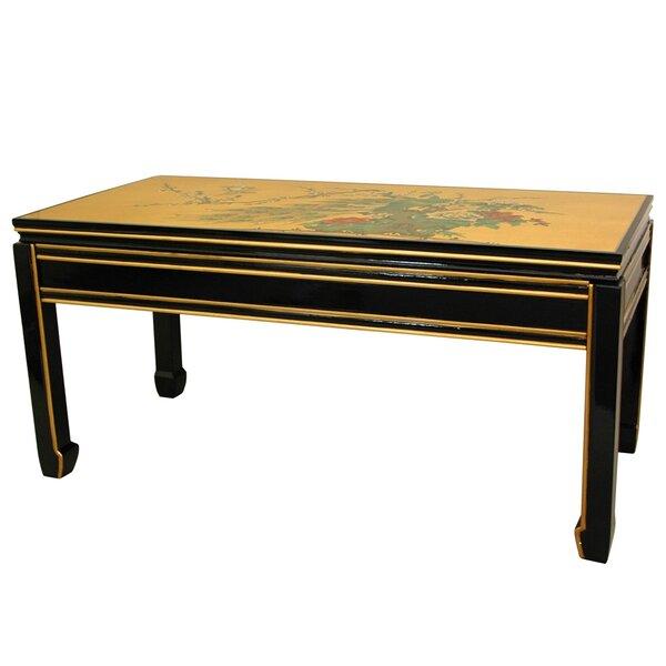 oriental furniture gold leaf coffee table & reviews   wayfair