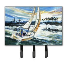 Sailboats on Lake Martin Leash Holder and Key Hook by Caroline's Treasures