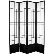 84 x 70 Eudes Shoji 4 Panel Room Divider by Oriental Furniture