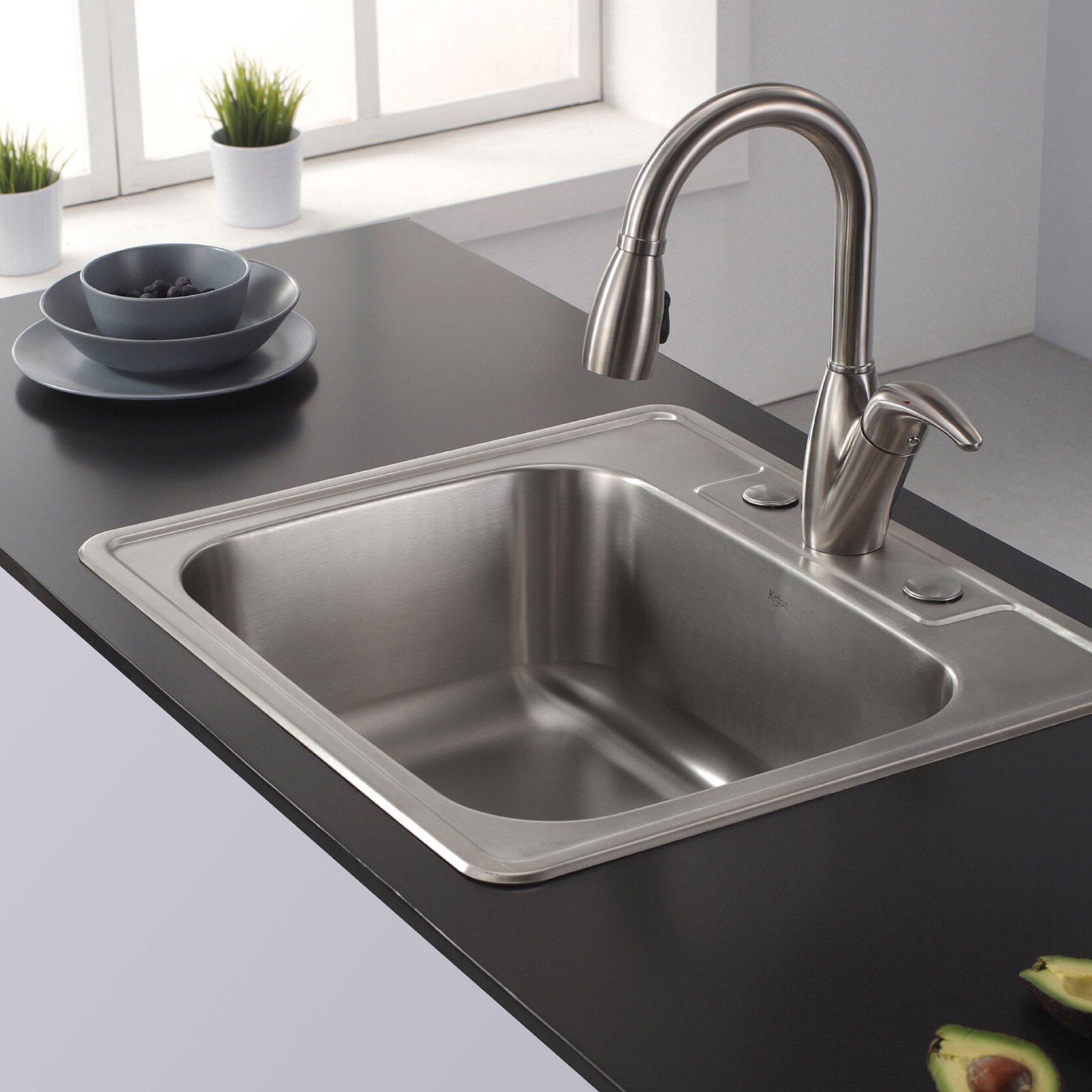 25 x 224 drop in kitchen sink - Kitchen Sink Drop In