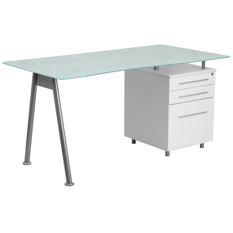 White Office Desk with Glass Top, Best Home Office Desks
