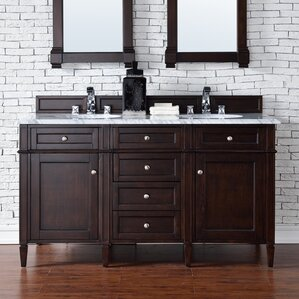 Brittany 60 Double Bathroom Vanity Base