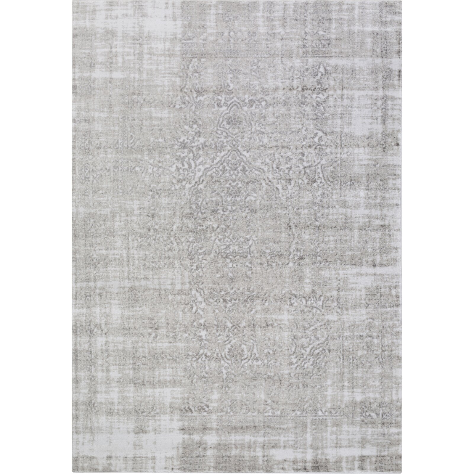 lark manor ismay ivorymedium gray area rug  reviews  wayfair supply - ismay ivorymedium gray area rug
