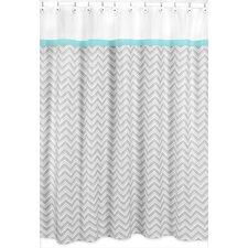 zig zag cotton shower curtain