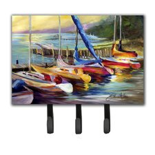 Sailboats at Sunset Leash Holder and Key Hook by Caroline's Treasures