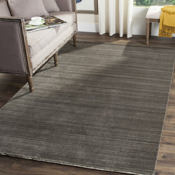 High Quality Langley Street Aghancrossy Hand Loomed Charcoal Area Rug U0026 Reviews | Wayfair