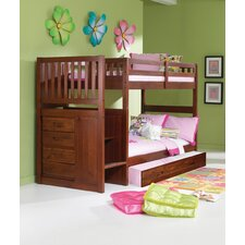 Mission Stair Step Twin over Twin Bunk Bed with Trundle by Donco Kids