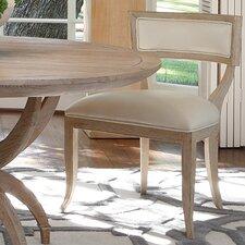 Klismos Cowhide Leather Side Chair by Global Views