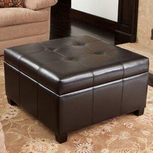 Rica Leather Storage Ottoman