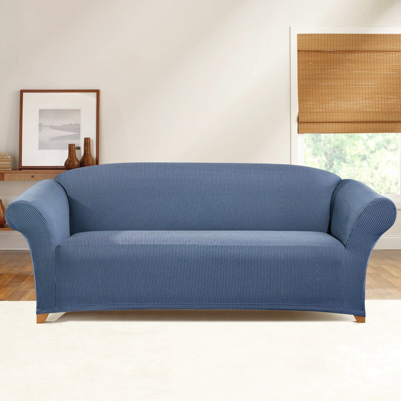 Sure Fit Simple Stretch Ticking Stripe Sofa Slipcover Reviews