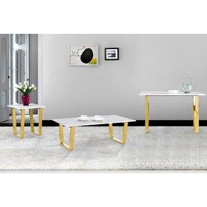 Germana 3 Pieces Coffee Table Set by Willa Arlo Interiors