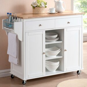 Wilson Modern Kitchen Island With Wood Top Pictures