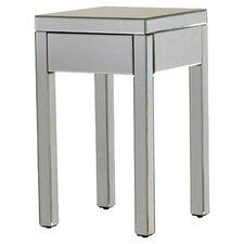 Deklan Mirrored 1 Drawer End Table