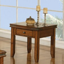 Wray End Table with Drawer by Loon Peak