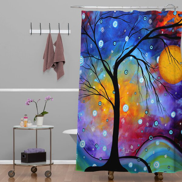deny designs madart inc winter sparkle shower curtain 13095 | madart inc winter sparkle shower curtain
