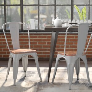 Hugo Side Chair (Set Of 2)  Metal Kitchen Chairs
