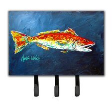 Red Fish For Jarett Leash Holder and Key Hook by Caroline's Treasures