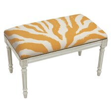 Animal Print Upholstered and Wood Bench by 123 Creations