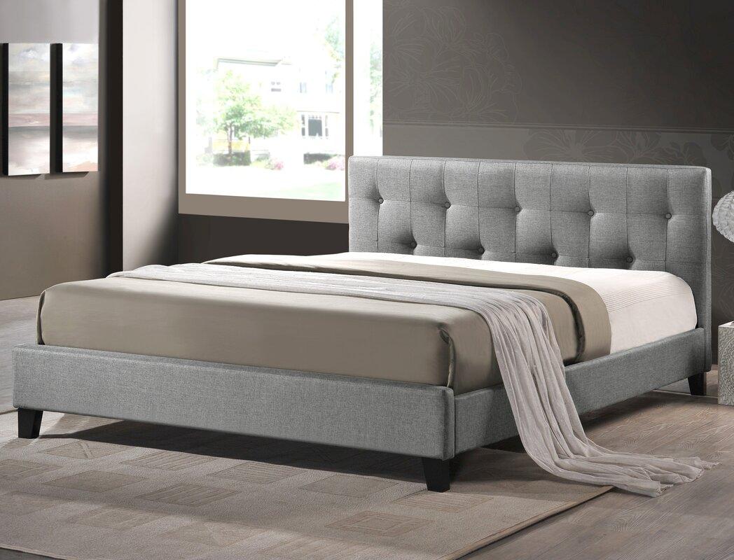 Fenton modern dark brown queen platform bed free shipping today - Default_name