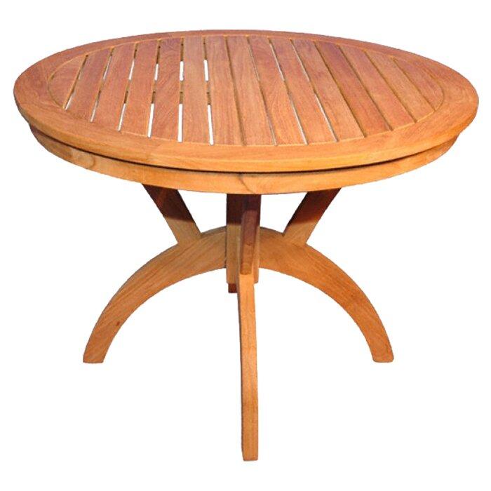 Regal Teak Pedestal Dining Table  Reviews Wayfair - Wood pedestal dining table
