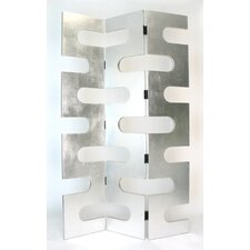 78 x 48 Modern Circular Cut Out 3 Panel Room Divider by Wayborn
