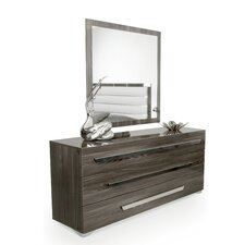 Kingston Bridge 3 Drawer Dresser with Mirror by Wade Logan