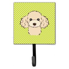 Checkerboard Buff Poodle Leash Holder and Wall Hook by Caroline's Treasures