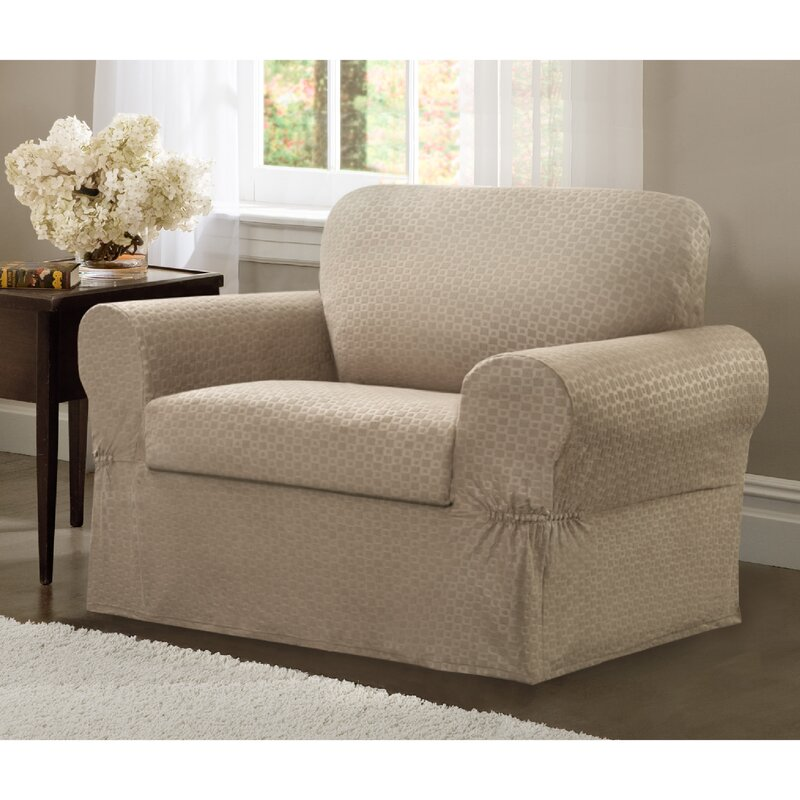 Darby Home Co 2 Piece Chair Box Cushion Slipcover Set Reviews