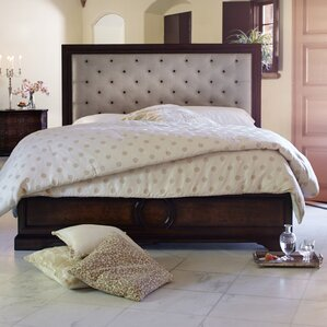 Bella Cera Upholstered Platform Bed by Michael Amini