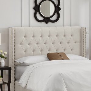 Grammont Upholstered Wingback Headboard by House of Hampton