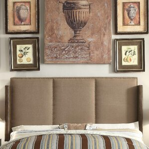 Fresco Queen Upholstered Wingback Headboard by Mulhouse Furniture