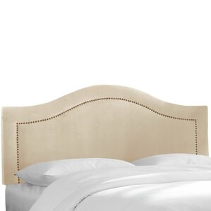 Velvet Inset Nail Button Upholstered Panel Headboard by House of Hampton