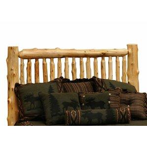 Traditional Cedar Log Slat Headboard by Fireside Lodge