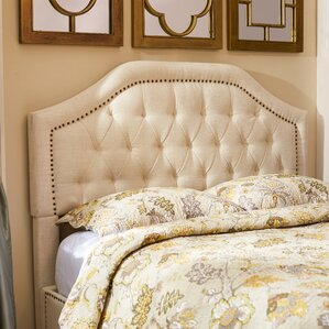 Djibril Scalloped Upholstered Panel Headboard by Lark Manor