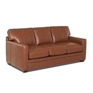 Carleton Leather Sleeper Sofa by Wayfair Custom Upholstery pare Price