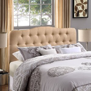 Minneapolis Arch Upholstered Panel Headboard by Charlton Home®