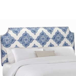 Notched Upholstered Panel Headboard by Skyline Furniture
