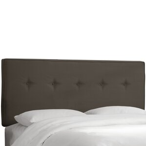 Hornellsville Button Tufted Upholstered Panel Headboard by Three Posts