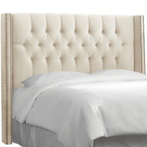 Diamond Tufted Upholstered Wingback Headboard by House of Hampton