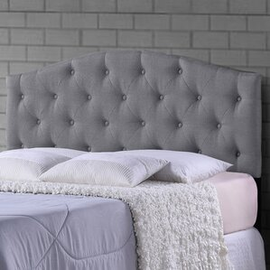 Baxton Studio Myra Grey Scalloped Queen Upholstered Panel Headboard by Wholesale Interiors