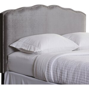 Clocher Upholstered Panel Headboard by House of Hampton