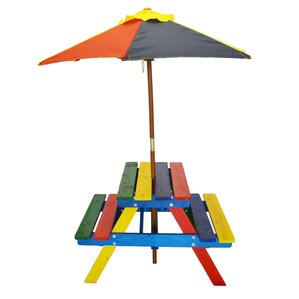 Pier Surplus Rainbow Kids' 3 Piece Picnic Table
